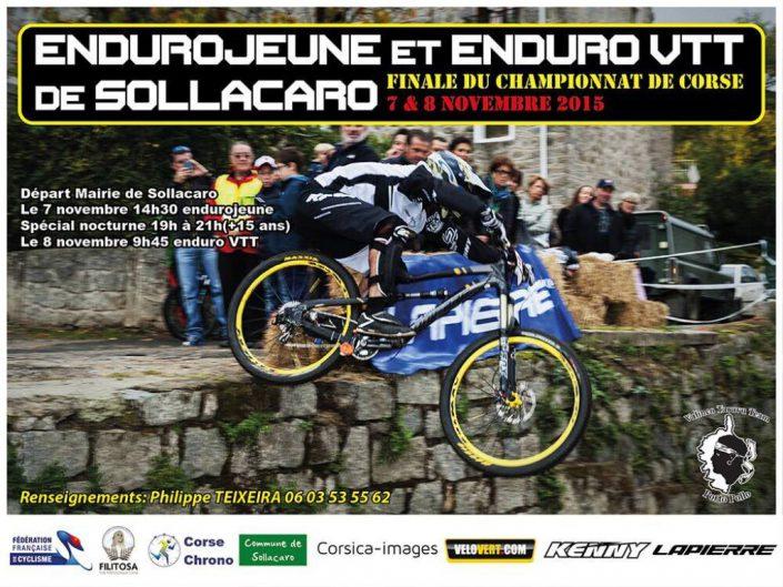 Affiches des Enduro VTT de Sollacaro et Serra di Ferro.